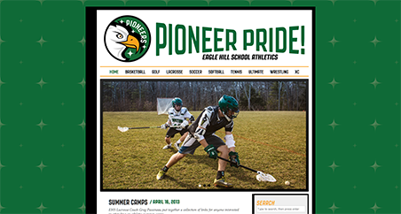 A Screenshot of pioneerpride.org homepage
