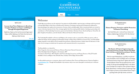A Screenshot of cambridgeroundtable.org homepage
